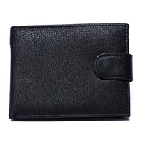 Hot Sale Mens Genuine Leather Wallet Cross Vertical Black Brown Coloirs Change Coins Pocket Purse Wallets