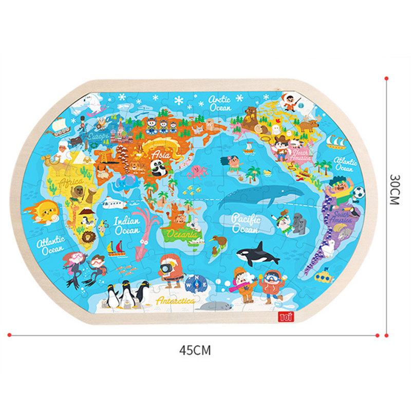 Map Of South Africa For Kids.Dental House Kids Educational Wooden Toys 80pcs Puzzles
