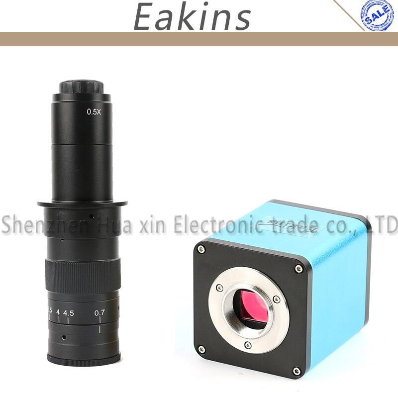 SONY IMX290 Autofocus 1080 P 60FPS HDMI TF Vídeo Auto Foco Câmera De Vídeo Microscópio indústria 180X C-Mount Lens Para PCB SMT reparação