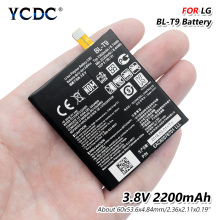 цена на YCDC BL-T9 3.8V 2220mAh Battery BLT9 BL T9 For LG Optimus G Pro E980 Google Nexus 5 D821 D820 Rechargeable Lithium Battery