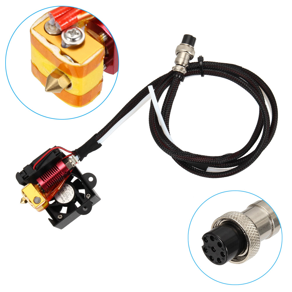 0.4mm Nozzle Extruder Hot End Kits MK8 Extruder Sets for Creality CR 10 DJA99