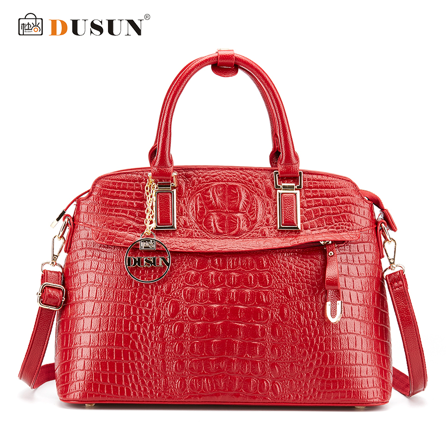 DUSUN Luxury Handbags Women Bags Designer Famous Brands Messenger Bag Crocodile Women Bag Handbags Bolsa Feminina Shoulder Bag fashion 2017 small handbags women messenger bags female handbag shoulder bag flap women bag brands purse bolsa feminina