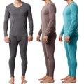 Pijamas Para Hombre de Punto Vestido Más El Tamaño de Los Hombres de Fibra de Bambú de Origen Pijama Conjunto