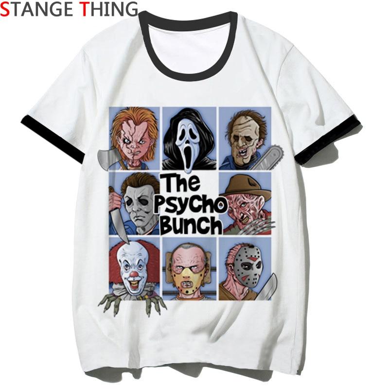 Camiseta casual homem de terror/mulher camiseta camiseta hip hop camiseta superior masculino/feminino