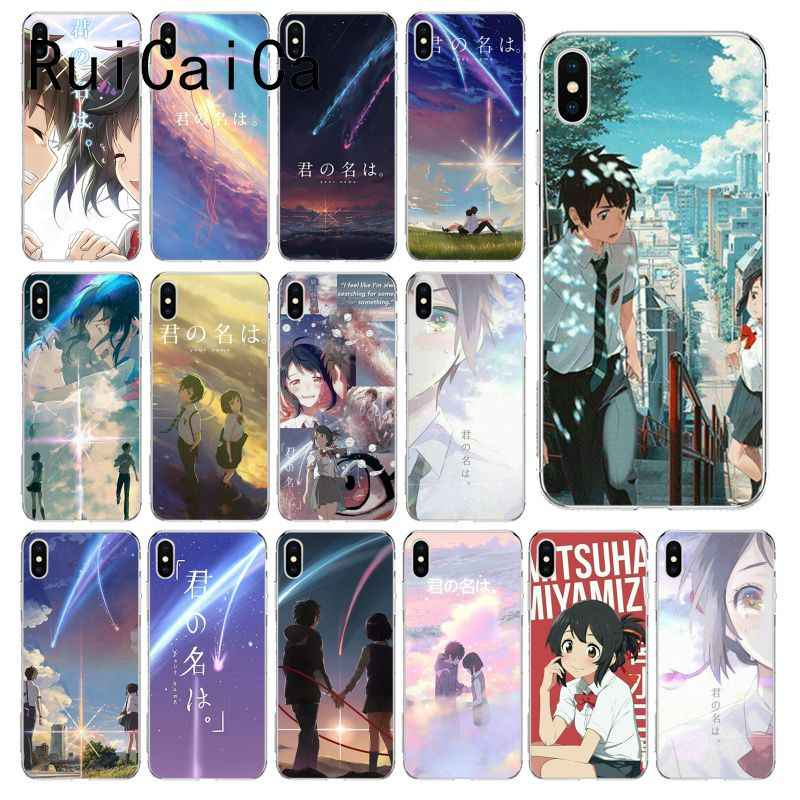 Ruicaica Japanese Anime Your Name Kimi No Na Wa Diy Painted Phone Case For Iphone X Xs Max 6 6s 7 7plus 8 8plus 5 5s Se Xr 10