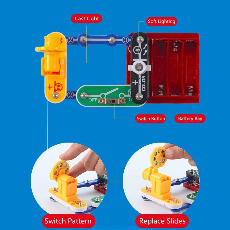 Jouets pour enfants Circuit intégré blocs électroniques Science éducation jouet physique créative expérience technologie apprentissage - 5