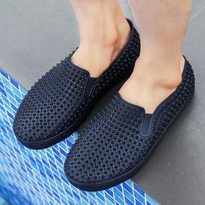 Image 5 - رجالي قباقيب الصنادل منصة النعال الذكور أحذية Sandalias الصيف أحذية الشاطئ صندل صندل hombre Sandali جديد 2020