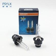 Fsylx Авто D2S D2C D4S d4c 35 Вт 12 В Ксеноновые фары лампы 4300 К 6000 К автомобиля фары для автомобиля ксеноновых ламп туман лампа D4 D2S
