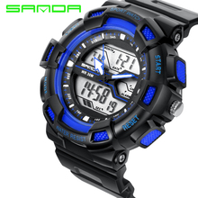 цены 2019 Men Sports Watches Waterproof Fashion Casual Quartz Watch Digital & Analog Military Multifunctional Men's Sports Watches
