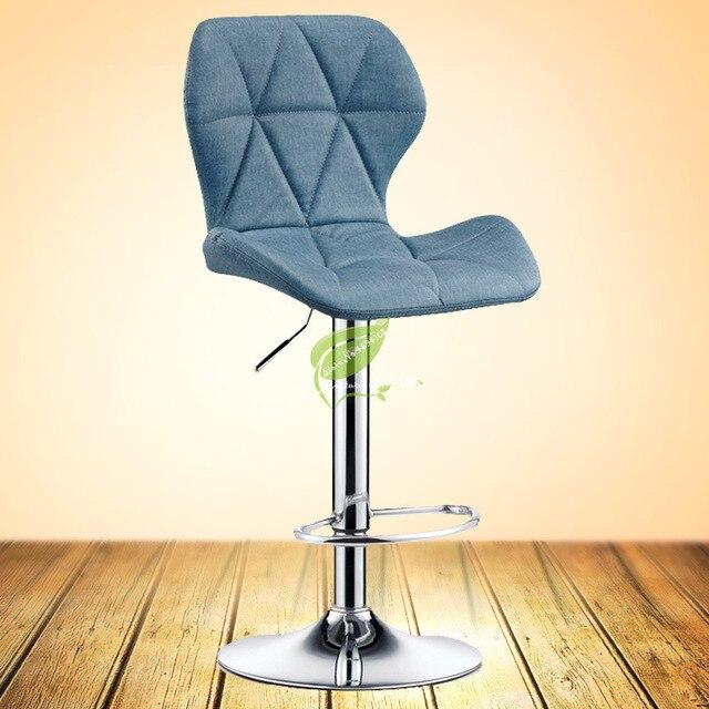Silla de Bar, silla de elevación, moderna, minimalista, giratoria para el hogar, taburete alto, escritorio frontal, caja registradora, silla, taburete trasero