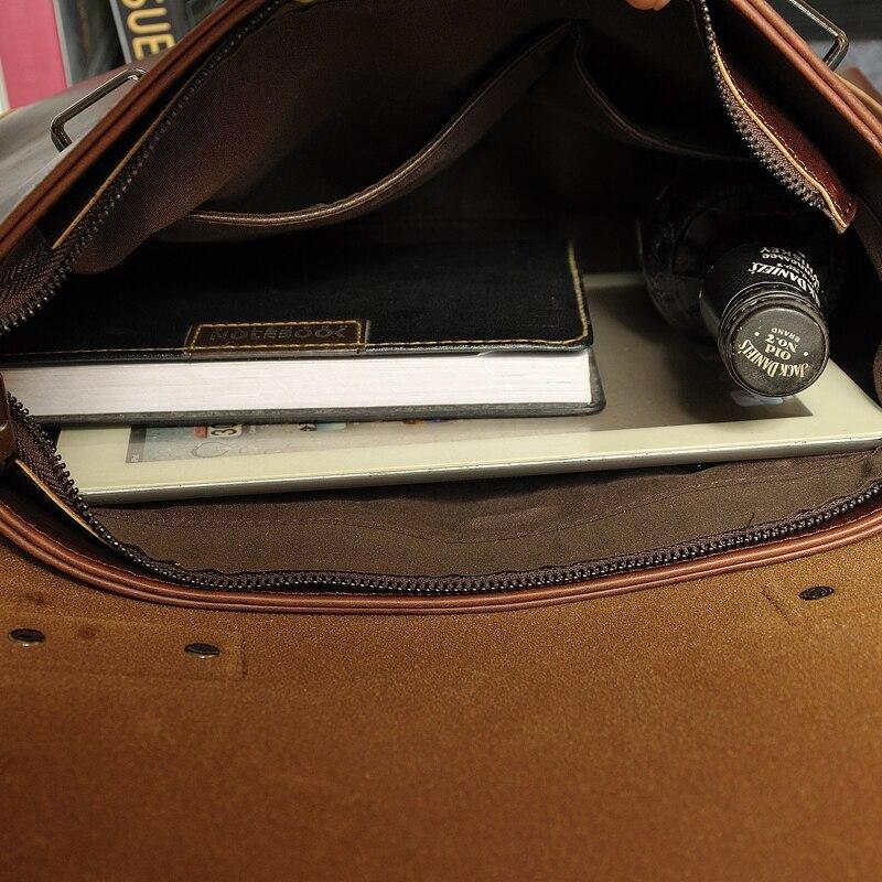 GUMST Crazy Horse Leather Men's Briefcase Messenger Bag for Gentlemen Document case Portfolio Office Bag 5