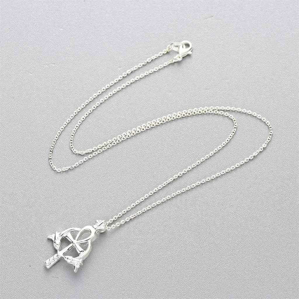 Cxwind Modo Ankh Croce Pendenti con gemme e perle Collane per le Donne Degli Uomini Gioielli Egiziano Dea Antico Egitto Pendenti e Ciondoli Croce Amuleto Collana