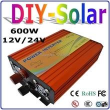 UL & TUV Approved 100% Pure Sine Wave Off Grid Inverter 600W, Micro Solar Wind Power Inverter 600w 12v 24v DC to AC 110v 220v