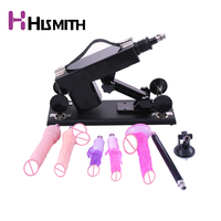 HISMITH Automatic Sex Machine For Women G spot Masturbation With Big Dildo Adult Toys Love Machine 7 Attachments Drop Shipping