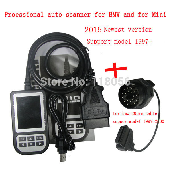 US $58 0 |2015 auto fault code scanner for bmw 1997 to 2014 with 20pin  cable For bmw OBD2 for old cable car dtc clear tool-in Code Readers & Scan
