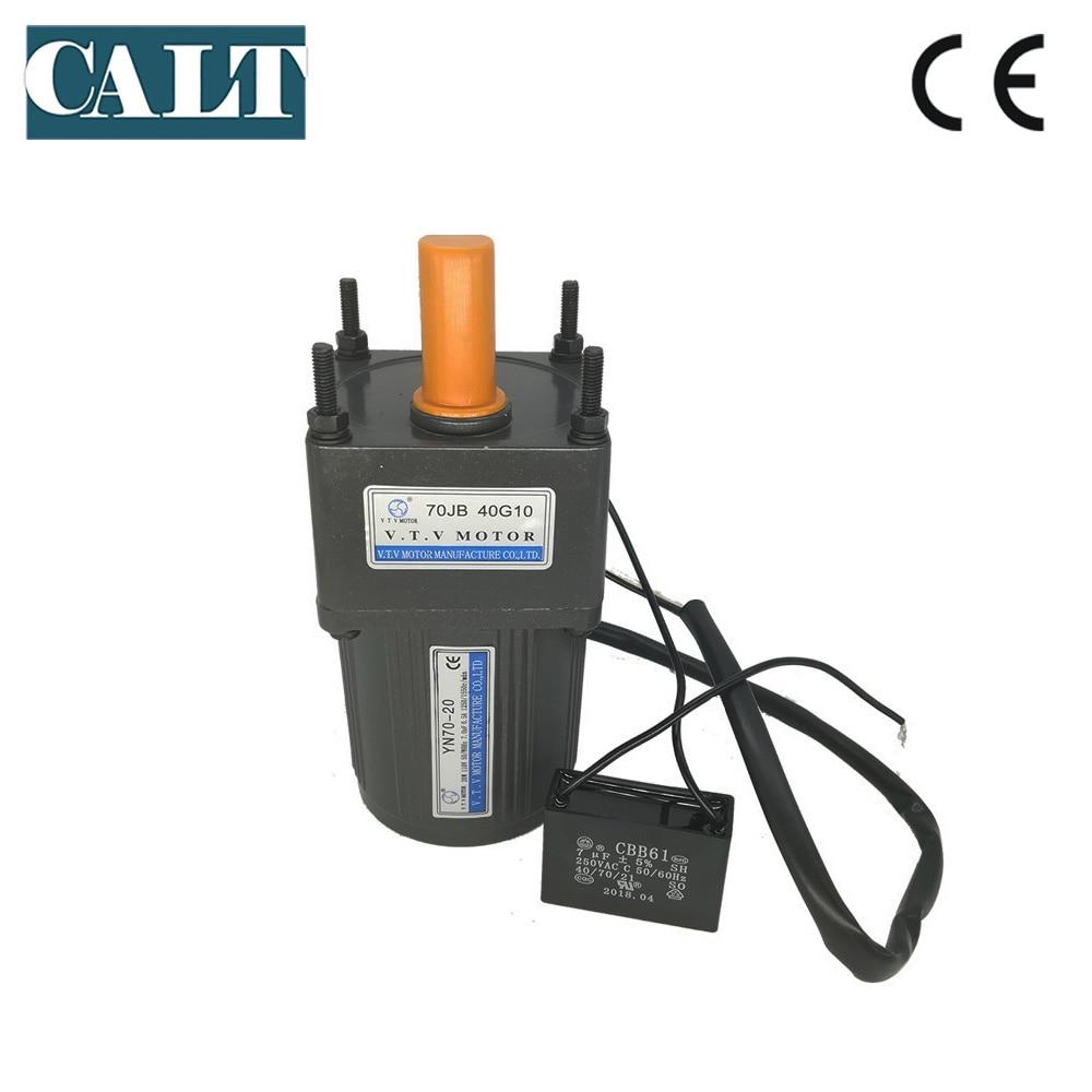 medium resolution of vtv motor 220v 20w ac gear motor yn70 20 10mm shaft single phase 3 wires ac reduction electric motor