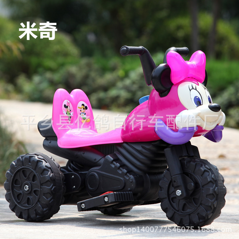 New Mickey children factory direct electric motorcycle electric tricycle baby can sit Beetle