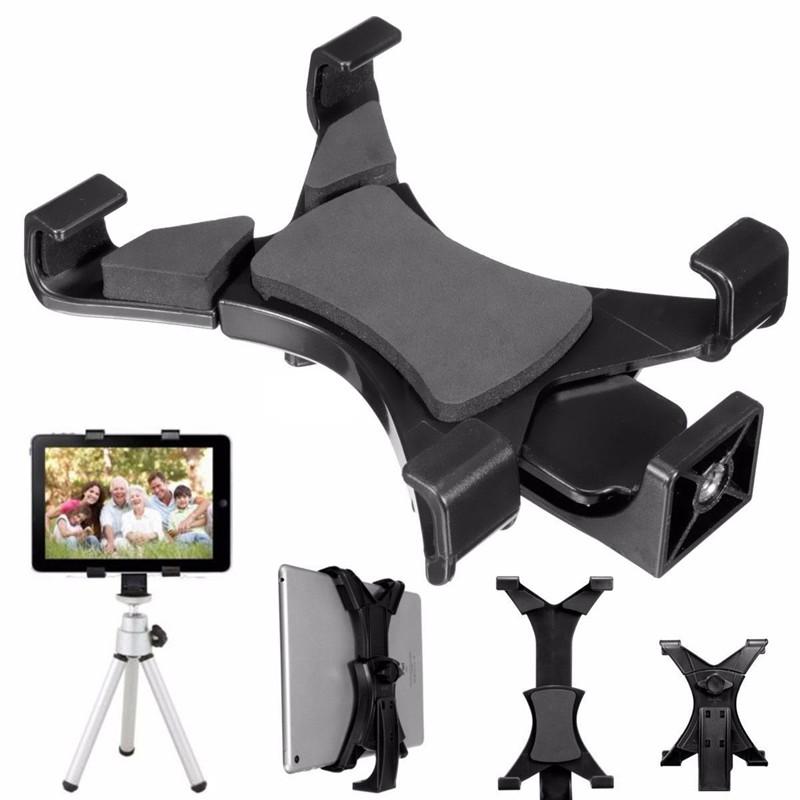 iPad diagonal 1 - Universal Tripod Mount Holder Clamp Bracket 1/4Thread Adapter For iPad Any 7 to 9 Diagonal Screen Size Tablet High Quality