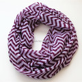 New Fashion Charming Wave Colorful Stripe Ring Scarves Winter Chevron Infinity Shawl Female Print Loop Zig Zag Women Plaid Scarf
