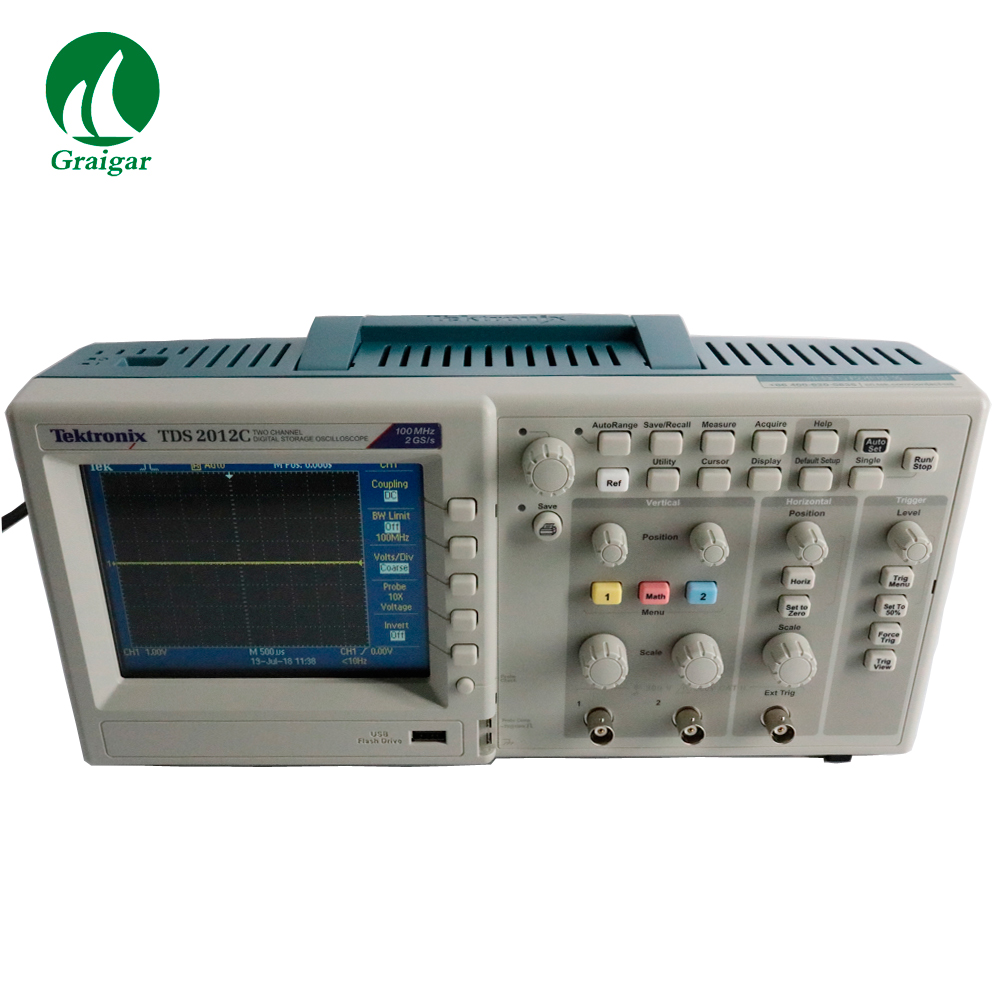 All New TDS2012C 4 Channels Tektronix Digital Storage Oscilloscope цена