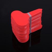 Новый 100 Шт. Т-типа Пластиковый Детский Сад Завод Label Цветок Толстые Тег Знак Красный