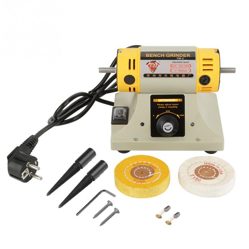 220V 350W EU Plug Electric Grinder Polishing Machine for Jewelry Lathe Motor New