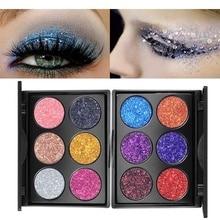 2019 New Long Lasting Diamond Golden Color Powder Glitter Eye Shadow Shiny Eye shadow Palette Makeup Face Cosmetics make up set недорого