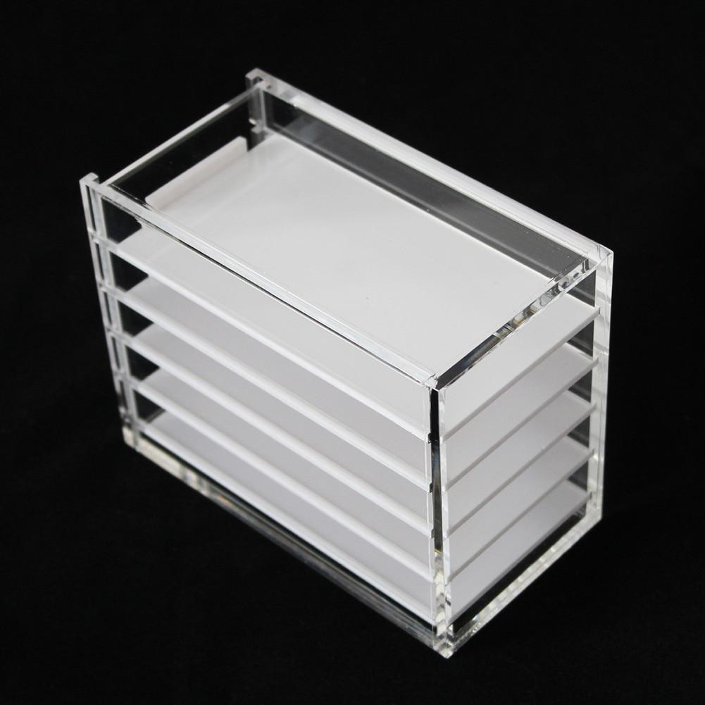 5 capas claro pestañas caja de almacenamiento organizador de maquillaje pestañas falsas pegamento Pallet titulares YF2018