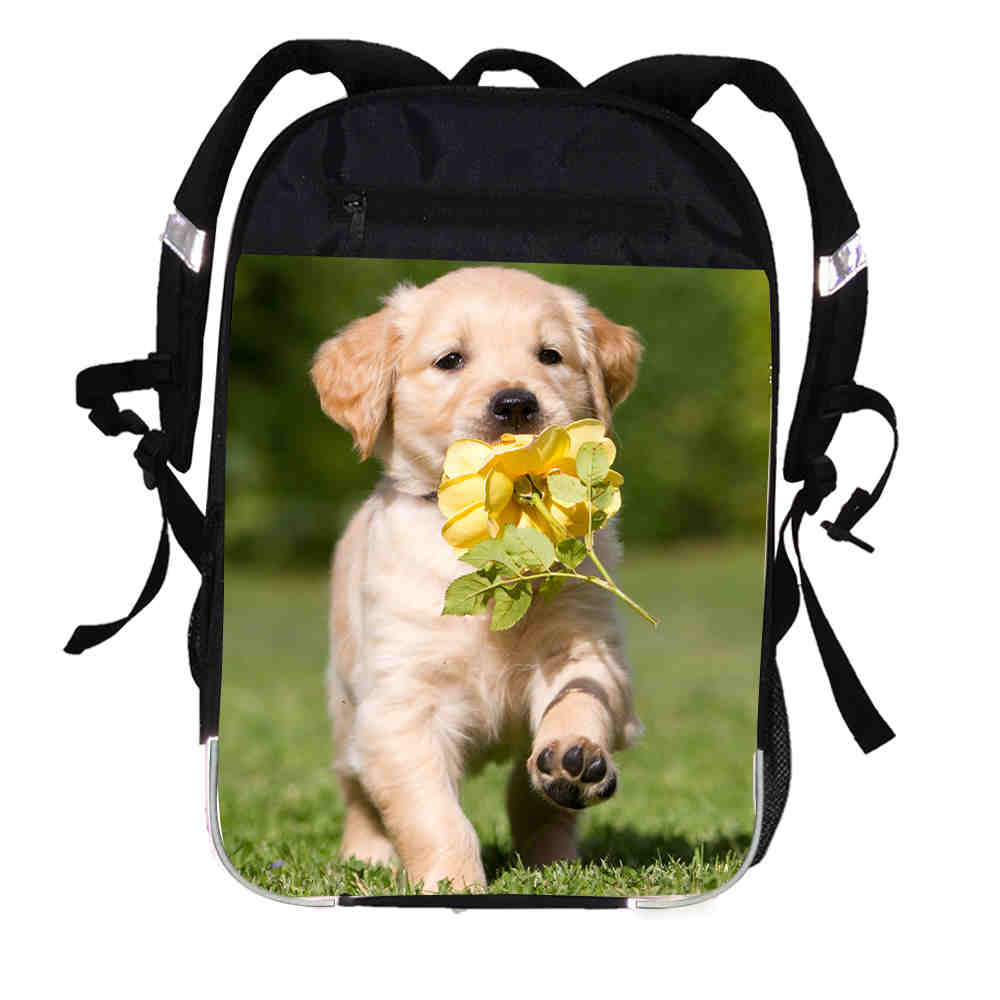 Animal Dog Printing Backpack Labrador Bulldog Husky German Shepherd Women Men Causul Boys Girls School Bags Mochila Bagpack
