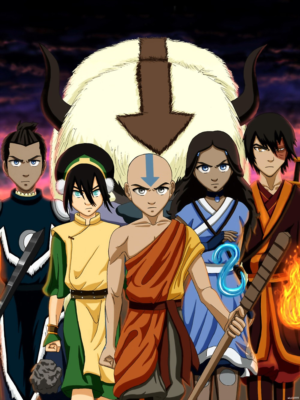 Avatar The Last Airbender Anime Manga Wall Stickers Art -1151