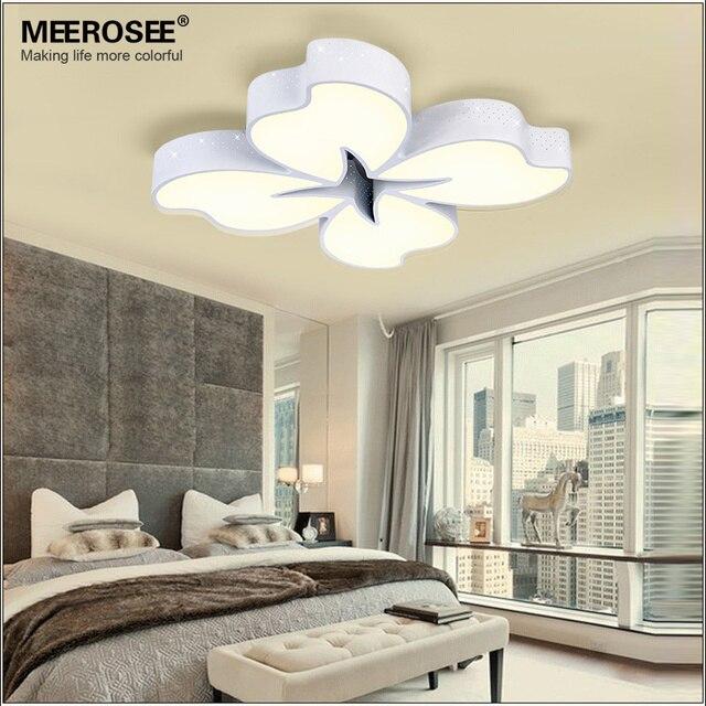 54 Watt White Metal Base LED Ceiling Light Flower Fancy Lamp For Dinning Room  Bedroom Surface