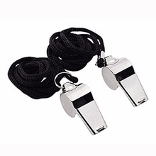 Whistle Basketball with Lanyard for School-Sports Soccer Coach Stainless-Steel Referee