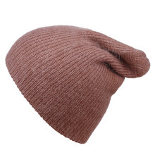 Saufuo Solid Wool Warm Unisex Skullies Beanies Winter hats for woman cute beanie