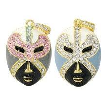 Mask Jewelry Heart Shape Necklace USB Flash Drive 4GB 8GB Memory Card Stick 16GB 32GB Thumb Car Key Pendrive U Disk Gift
