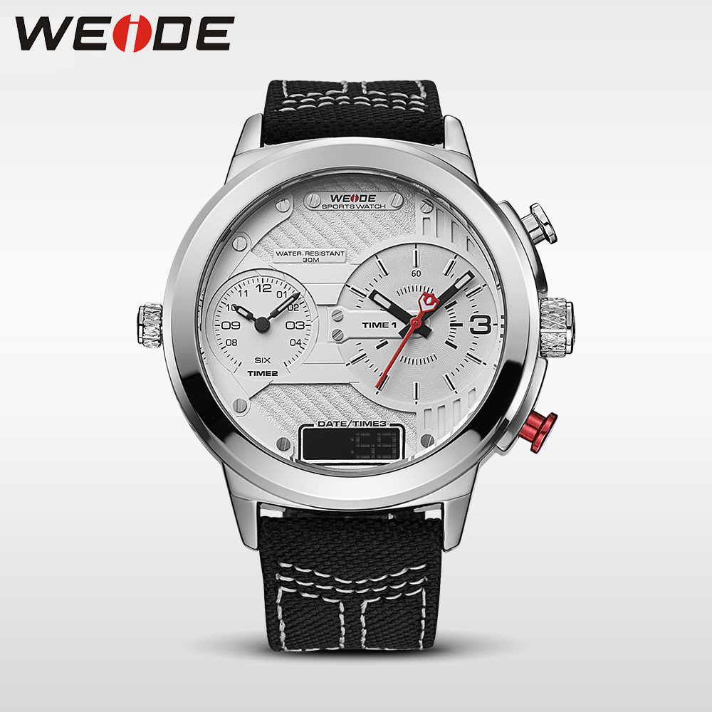 WEIDE genuine  brand luxury men watch Nylon sport digital black quartz relogios masculino watches Large discs Electronic clock weide casual genuine luxury brand quartz sport relogio digital masculino watch stainless steel analog men automatic alarm clock