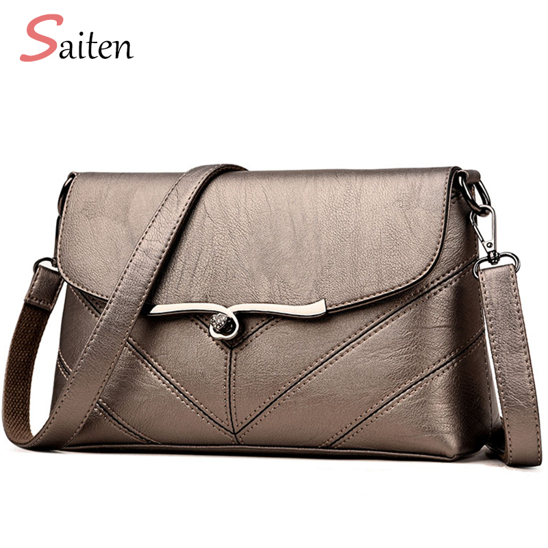 9a7e444a8c0d Saiten Brand 2018 New Fashion Thread Crossbody Bags PU Leather Bags Women  Handbags Designer Shoulder Bags Ladies Sac Clutch Bag-in Shoulder Bags from  ...
