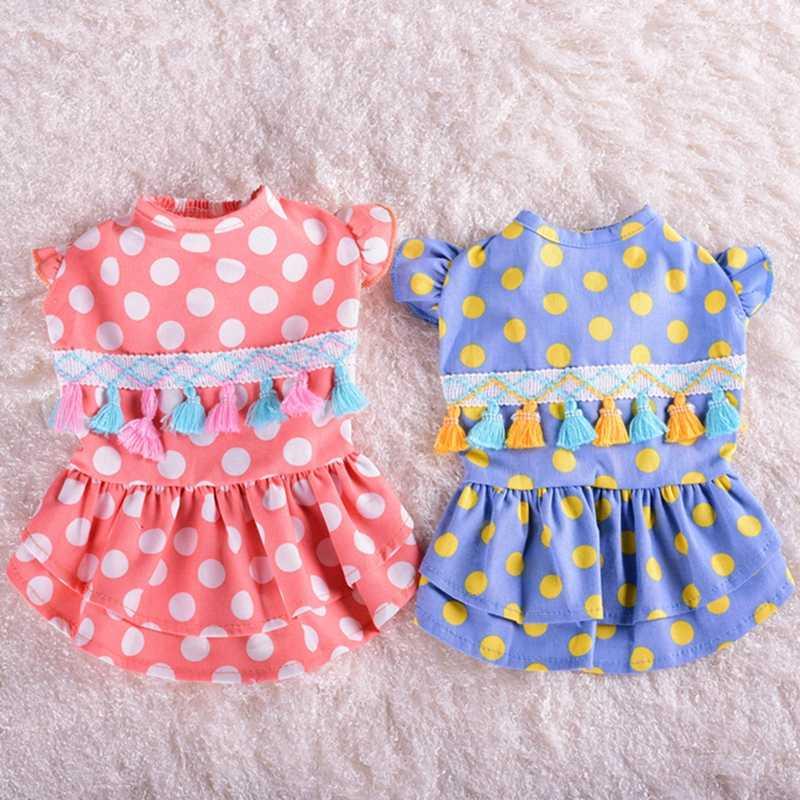 Платье для собак в гавайском стиле, платья для маленьких собак, летняя одежда для собак чихуахуа, костюм для собак, платья для принцесс, кошек, йоркширов