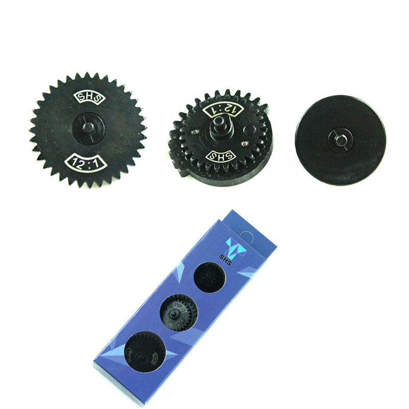 SHS 12:1 Ultra-high speed Gear Set Hunting Accessories for Ver.2 / 3 AEG Airsoft Gearbox SHS New Type 12:1 Gear Set shs серебряный moto g5