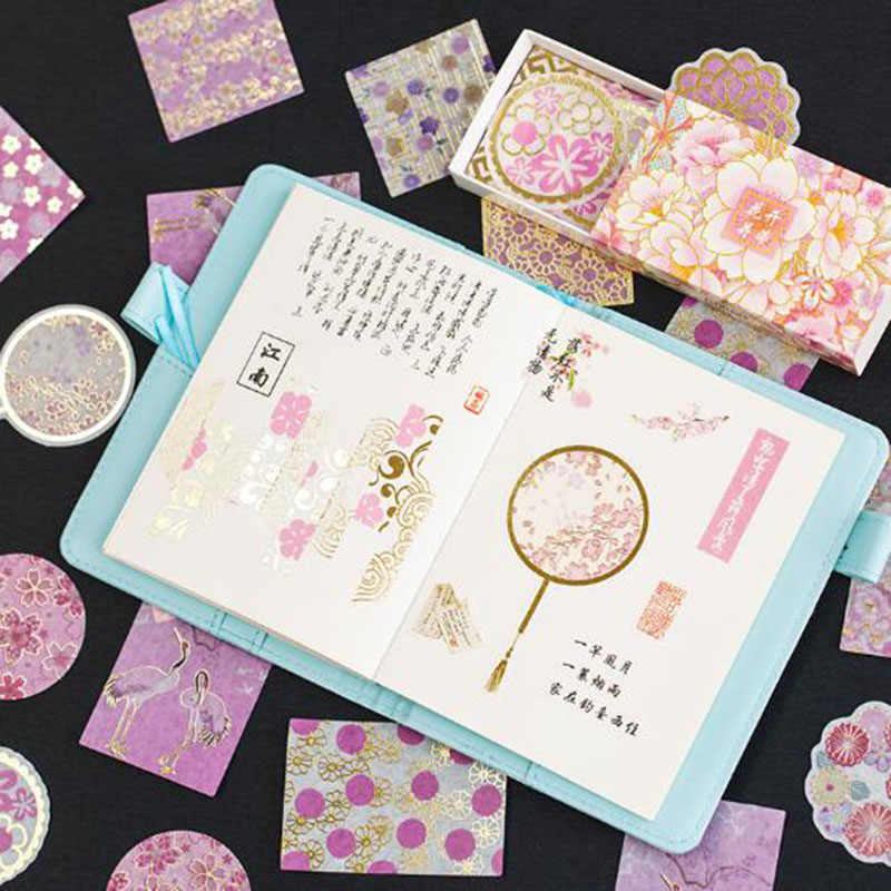 Bronzing Kotak Korek Api Stiker Mimpi Kembali Ke Southland Seri 60 Lembar Diy Lipstik Parfum Stiker Scrapbooking Perencana Label Stic
