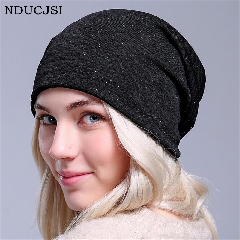 NDUCJSI Female Fashion Casual Skullies Women's Winter Hats Knitted Wool Beanies Outdoor Mask Ski Caps Thick Warm Hat For Women skullies beanies the new russian leather thick warm casual fashion female grass hat 93022