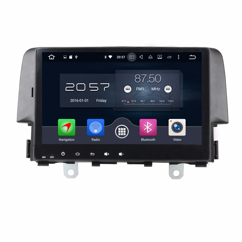 4GB RAM Octa Core 9 Android 6 0 Car Audio Video Player for Honda Civic 2016