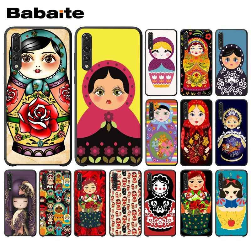 Babaite Russa matryoshka Bonecas Acessórios Do Telefone DIY Case for Huawei P9 P10 Plus Mate9 Mate10 Lite P20 Pro Honor10 View10