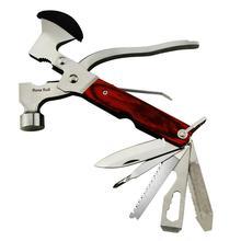 Juego de Mini herramientas multiusos multifuncionales de bolsillo con alicates de martillo de hacha y mango de madera de MYSBIKER