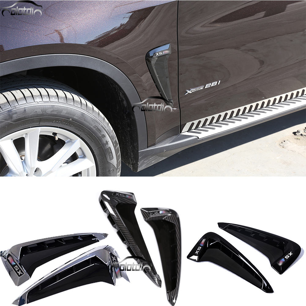 For BMW X5 F15 F16 2014-2016 Car Styling Air Flow Fender ABS Side Wing Intake Vent Covers цена