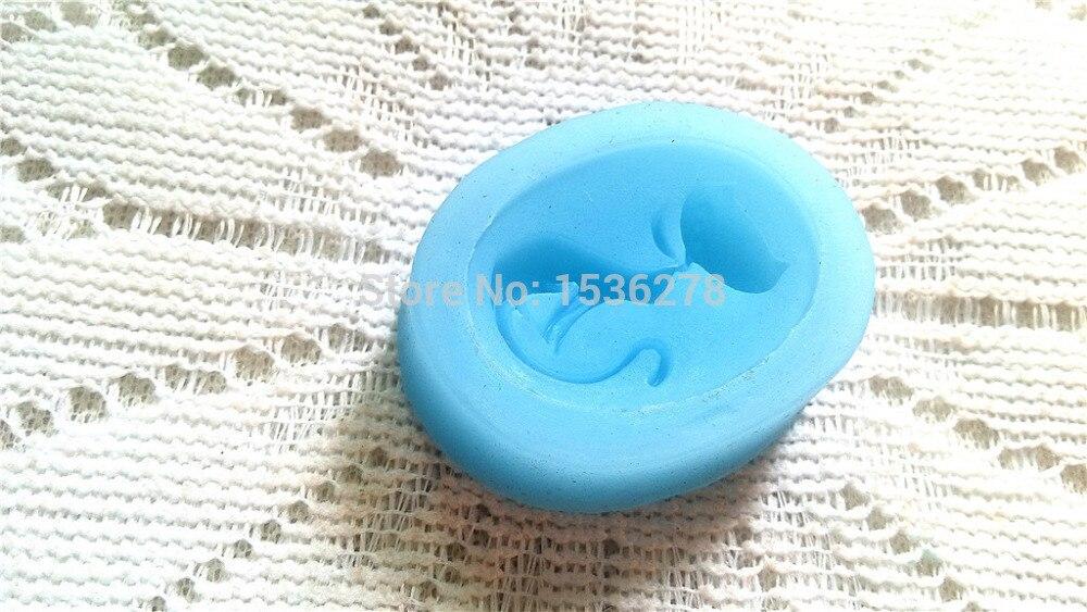 Free Shipping Silicone Cake Mold Fondant Single Cute Cat Silicone Bakeware Baking Mold Soap Mold Soap Flakes A432