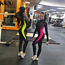 patchwork push up fitness jumpsuits