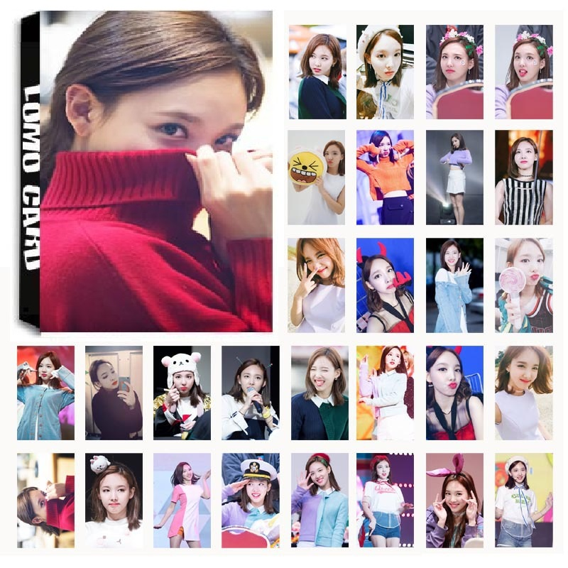 30Pcs/set KPOP TWICE Girls Lim Na Yeon Single 01 TT Album HD Photo Card PVC Cards Self Made LOMO Card Photocard