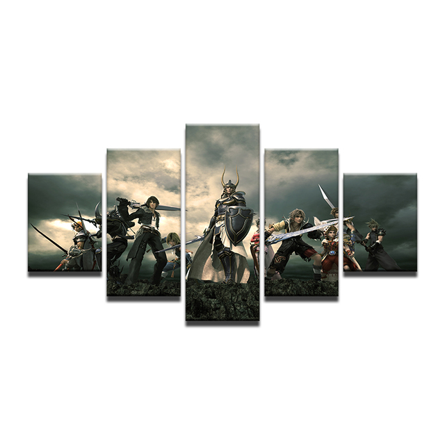 5 Pieces Animated Final Fantasy XIV Role Playing Game Home Wall ...
