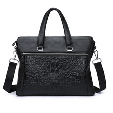 цена на Leisure Time Genuine Head Layer Cowhide Male Package Handbag Soft Leather Man Single Shoulder Messenger Document Bag briefcase