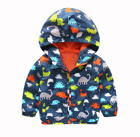 Kid Boys Children Hooded Waterproof Windbreak Outerwear Rain Coat Jacket Clothes Size 4-7T